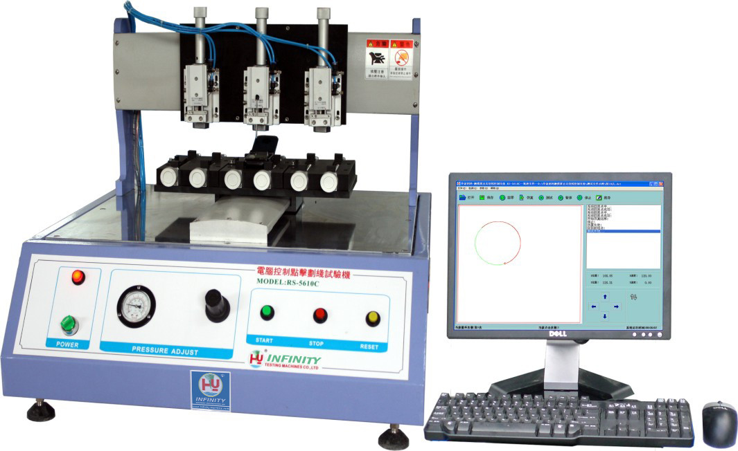 Computer Controlled LCD Touch Panel Tester , Touch Screen Click Scribing Test Machine